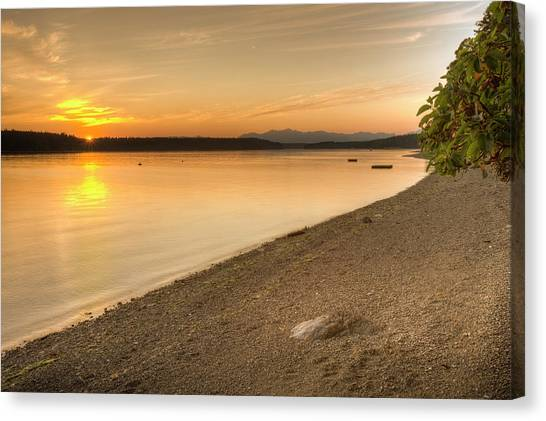 North Rim Canvas Print - Sunset Olympic Peninsula, Washington by Tom Norring
