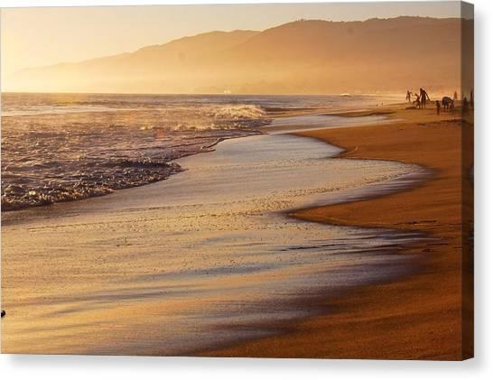 Sunset On A Beach Canvas Print