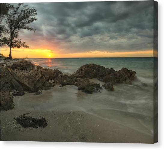 Sunset On Bean Point Canvas Print
