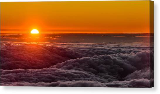 Sunset On Cloud City 1 Canvas Print