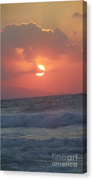 Sunset On Crete Canvas Print