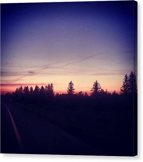 Roads Canvas Print - Sunset On M115 by Jill Tuinier
