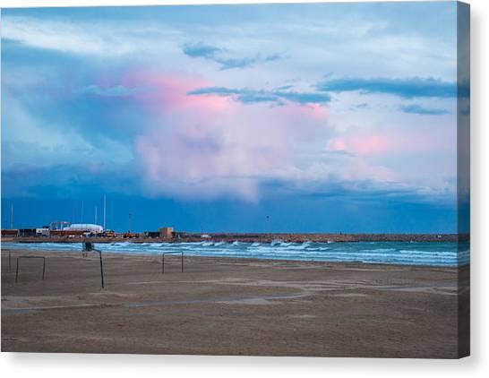 Sunset On Mediterranean Sea Spain Canvas Print