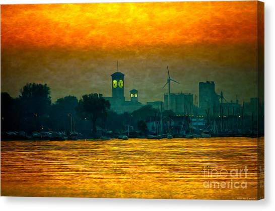 Sunset On Milwaukee's South Side  Canvas Print