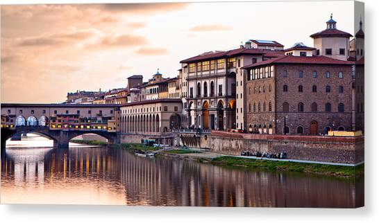 Sunset On Ponte Vecchio In Florence Canvas Print