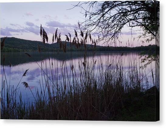 Sunset On Rockland Lake - New York Canvas Print
