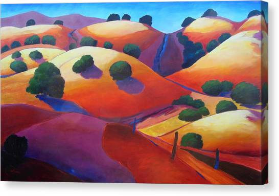 Sunset On Rollers Canvas Print