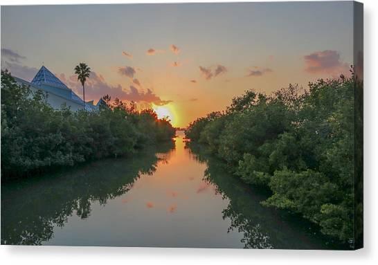 Sunset On Sarasota Bay Canvas Print