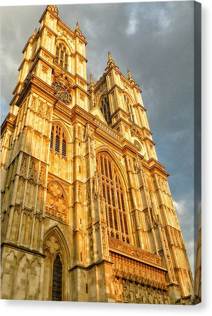 Westminster Abbey Canvas Print - Sunset On The Abbey  by Connie Handscomb