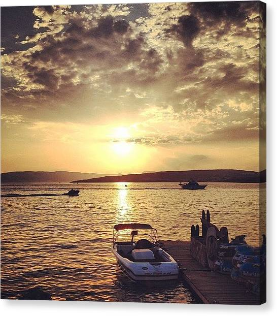 Saltwater Life Canvas Print - #sunset On The #beach - #croatia by Jessica Gullasch