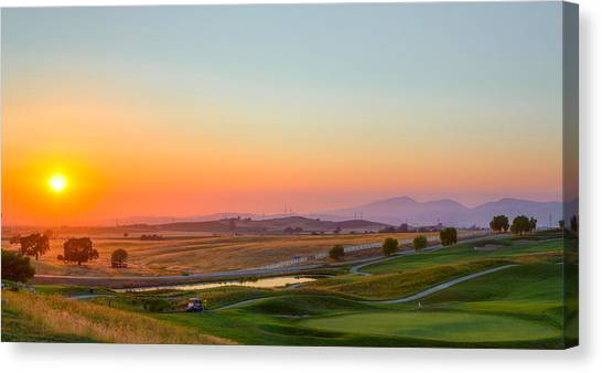 Sunset On The Greens Canvas Print