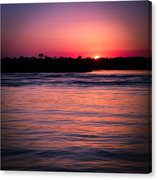Sunset On The Halifax Canvas Print