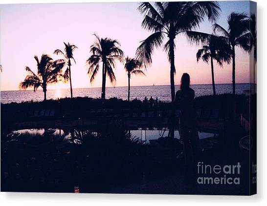 Sunset On The Island Canvas Print