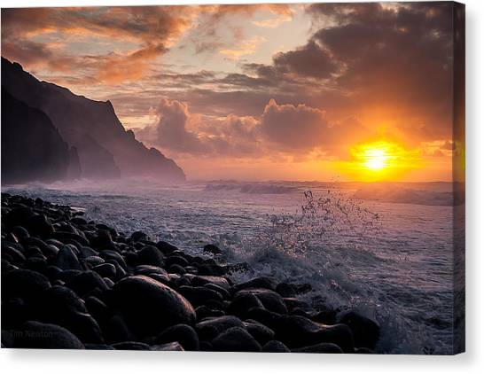 Sunset On The Kalalau Canvas Print