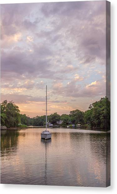 Sunset On The Magothy River Canvas Print
