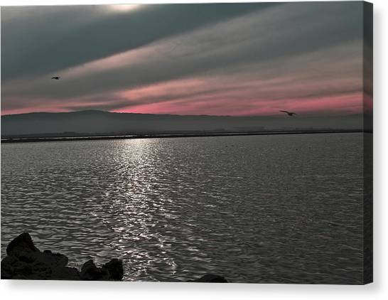 Sunset On The Marsh Canvas Print