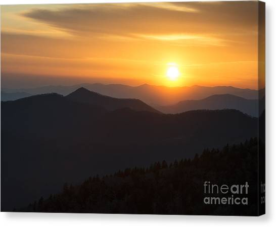 Sunset On The Parkway Canvas Print
