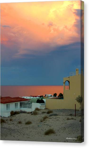 Sunset On The Sea Of Cortez Canvas Print