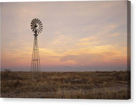 Tanks Canvas Print - Sunset On The Texas Plains by Melany Sarafis