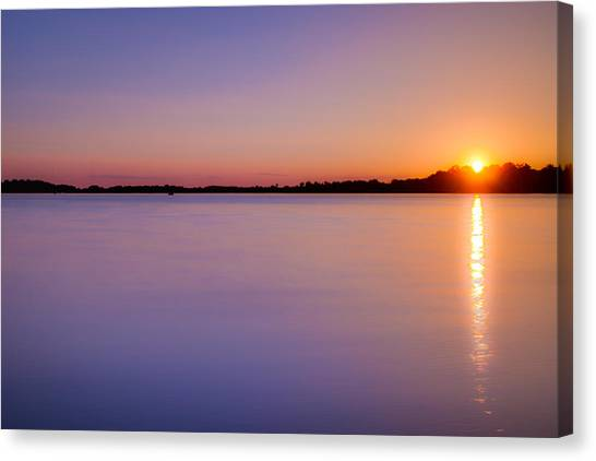 Sunset On White Bear Lake Canvas Print
