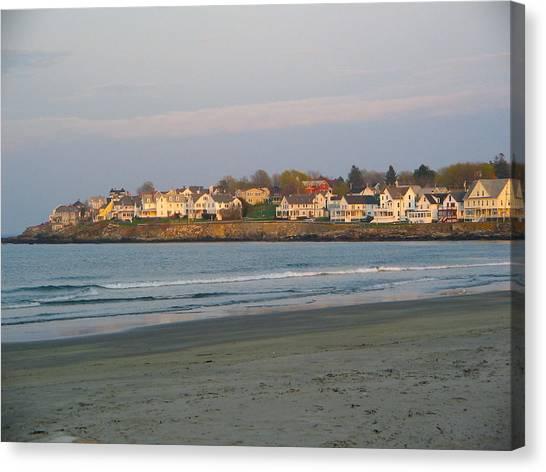 Sunset On York Beach Canvas Print