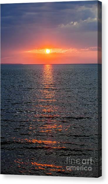 Sun Set Canvas Print - The Eye by Elena Elisseeva