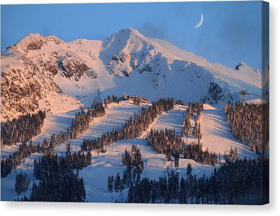Sunset Over Blackcomb Mountain Canvas Print