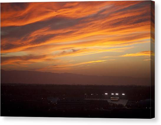 Boise State University Canvas Print - Sunset Over Bsu by Steve Smith