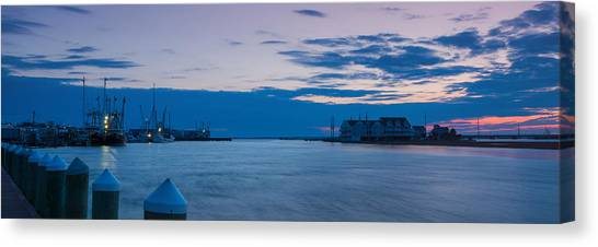 Sunset Over Chincoteague Inlet Canvas Print