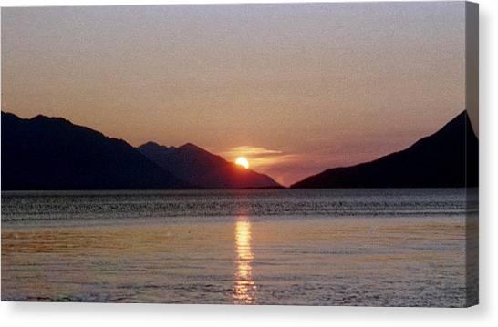 Sunset Over Cook Inlet Alaska Canvas Print