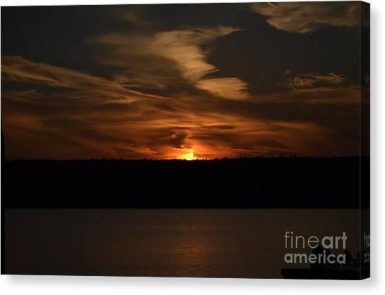 Sunset Over Door County  Canvas Print