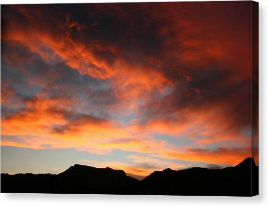 Sunset Over Estes Park Canvas Print