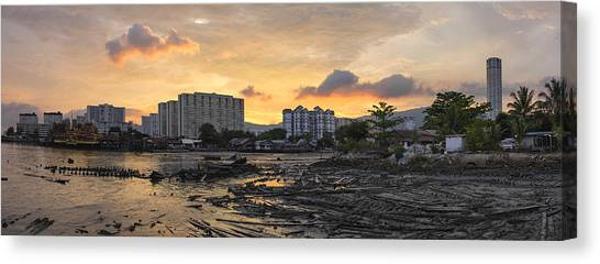 Sunset Over Georgetown Penang Malaysia Canvas Print