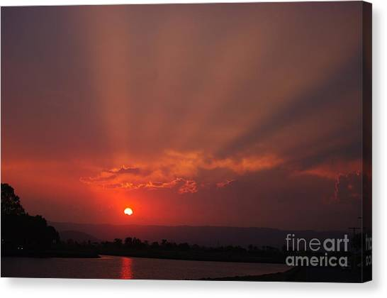 Sunset Over Hope Island 2 Canvas Print
