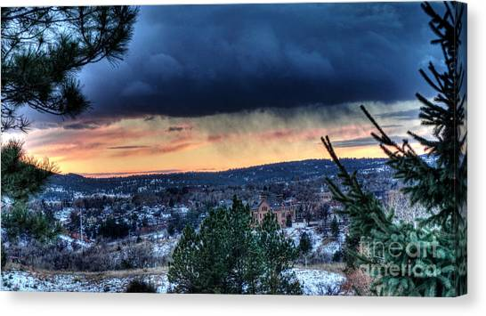 Sunset Over Hot Springs Canvas Print