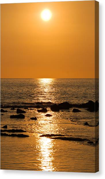 Sunset Over Kona Canvas Print