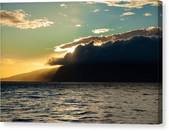 Sunset Over Lanai   Canvas Print