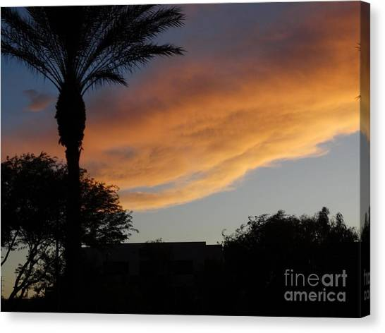 Sunset Over Las Vegas  Canvas Print