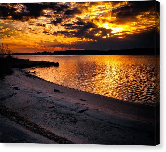 Sunset Over Little Assawoman Bay Canvas Print