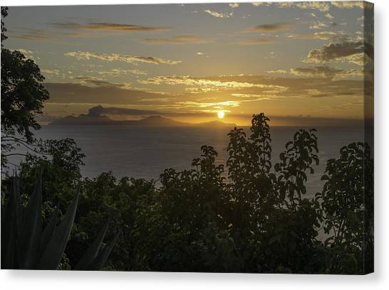 Sunset Over Montseratt Canvas Print