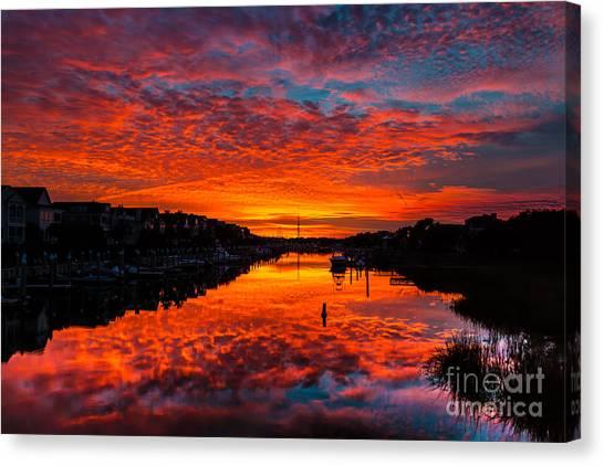 Sunset Over Morgan Creek - Wild Dunes Resort Canvas Print