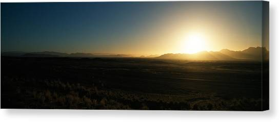 Namib Desert Canvas Print - Sunset Over Mountains, Sossusvlei by Panoramic Images