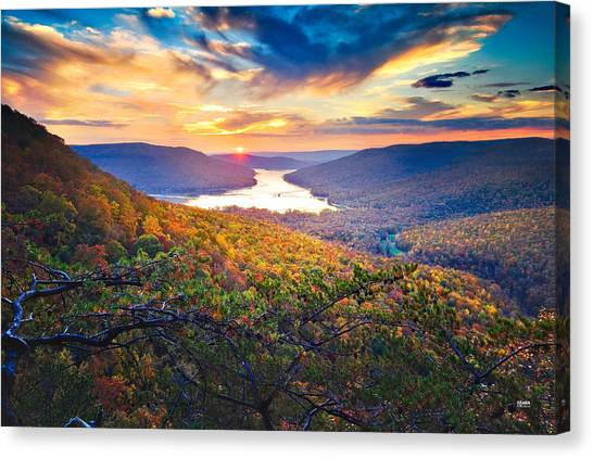 Sunset Over Mullins Cove Canvas Print