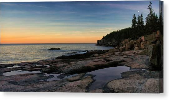 Sunset Over Otter Cliffs Canvas Print