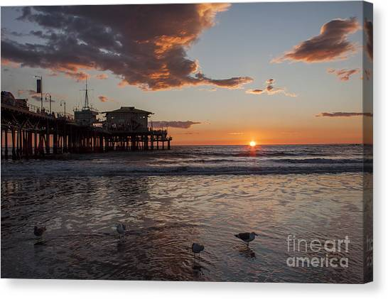Sunset Over Pacific Canvas Print