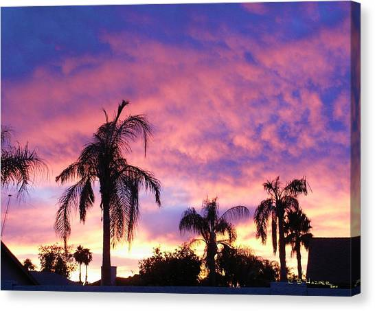 Sunset Over Palms Canvas Print