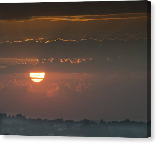 Sunset Over Rochester Canvas Print