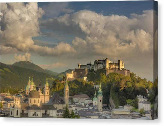 Mountain Sunsets Canvas Print - Sunset Over Salzburg by Chris Fletcher