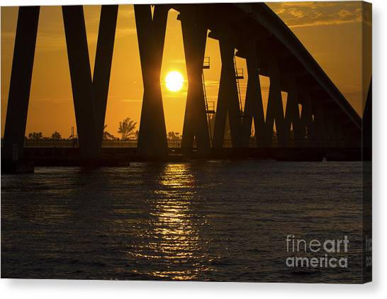 Sunset Over Sanibel Island Photo Canvas Print
