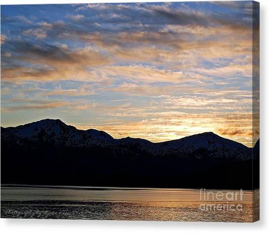 Sunset Over Skagway Ak Canvas Print
